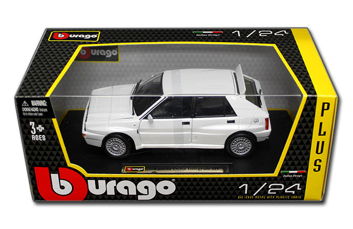BBURAGO 1:24 W/B PLUS WHITE LANCIA DELTA HF INTEGRALE EVO 2 DIECAST MODEL CAR