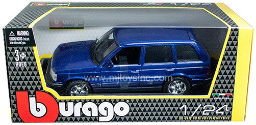 BBURAGO 1:24 W/B BLUE LAND ROVER RANGE ROVER DIECAST MODEL CAR