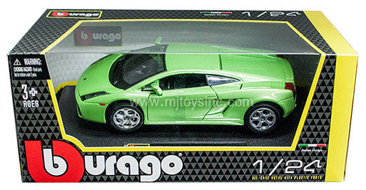 BBURAGO 1:24 W/B GREEN LAMBORGHINI GALLARDO DIECAST MODEL CAR