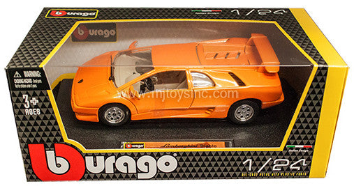 BBURAGO 1:24 W/B ORANGE LAMBORGHINI DIABLO   DIECAST MODEL CAR