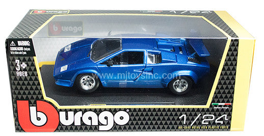 BBURAGO 1:24 W/B BLUE LAMBORGHINI COUNTACH 5000 QRTZ   DIECAST MODEL CAR
