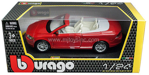 BBURAGO 1:24 W/B RED VOLVO C70 CABRIOLET  DIECAST MODEL CAR