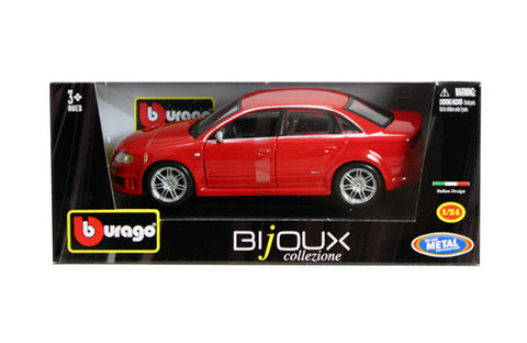 BBURAGO 1:24 RED W/B AUDI RS4  DIECAST MODEL CAR