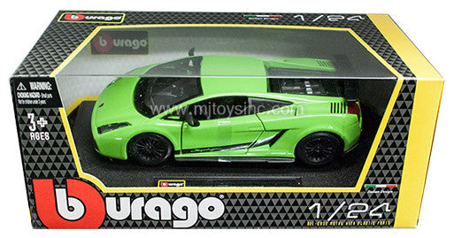 BBURAGO 1:24 W/B 2007 GREENLAMBORGHINI GALLARDO SUPERLEGGERA 2007   DIECAST MODEL CAR