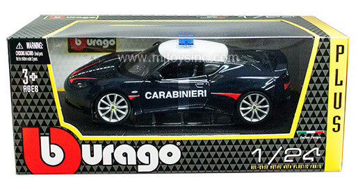 BBURAGO 1:24 W/B STAR BLUE LOTUS EVORA S CARABINIERI  DIECAST MODEL CAR
