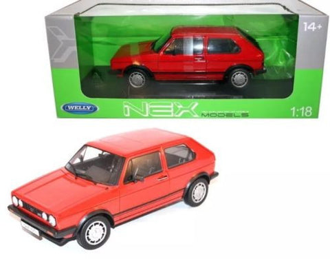 Welly 1:18 Scale 1983 Red Volkswagen Golf 1 GTI Diecast Model Car