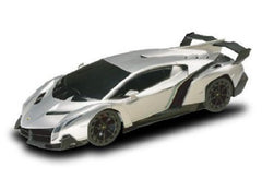 1/18 Scale Silver Lamborghini Veneno Licensed RC Model Car RTR