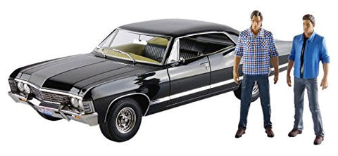 "1967 Chevrolet Impala Sport Sedan with Sam and Dean Figures ""Supernatural"" (TV Series 2005) 1/18 Model Car by Greenlight"