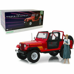 Greenlight 1:18 Artisan Collection - The Terminator - Sarah Connor's 1983 Jeep CJ-7 Renegade (Red) with Figure
