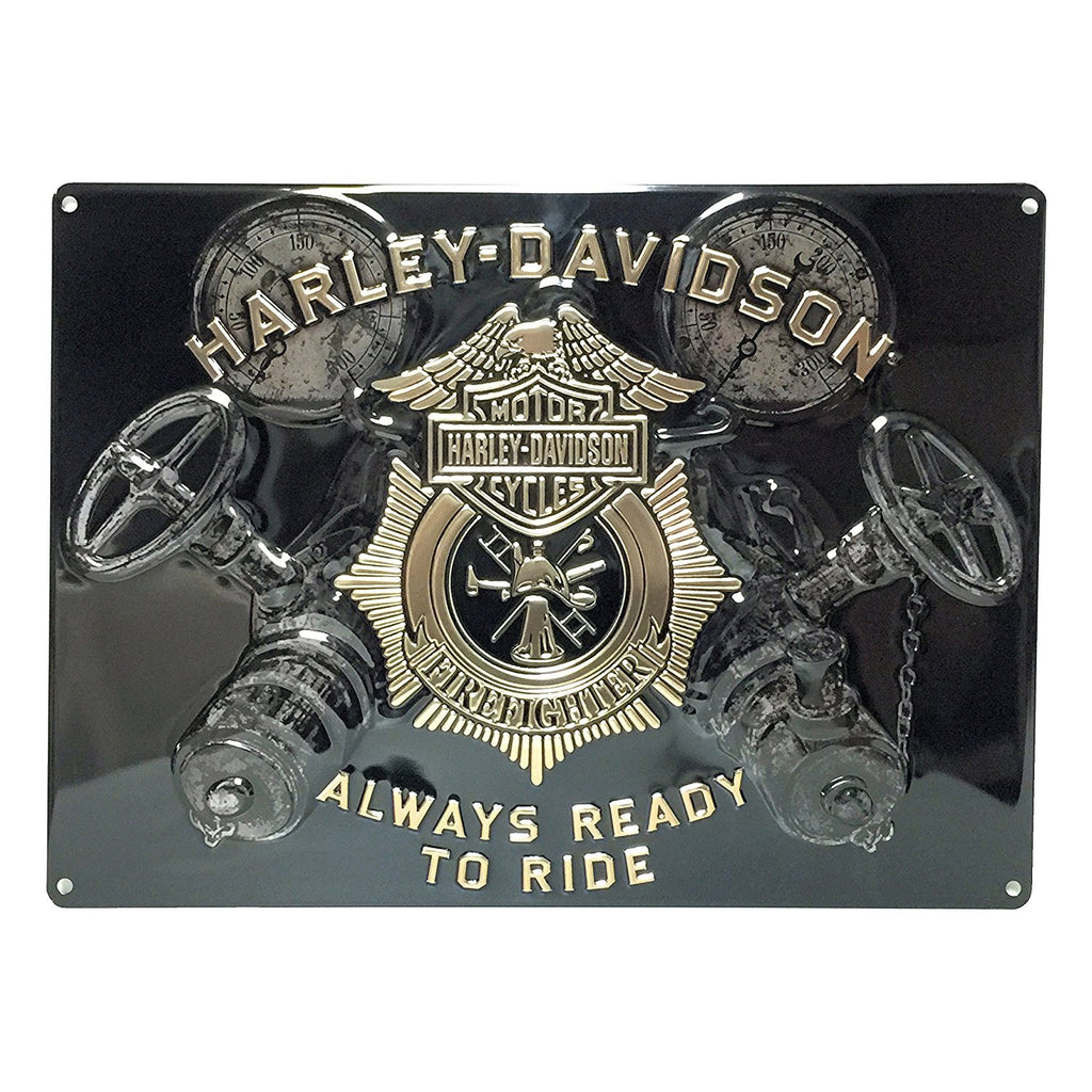 Harley Davidson Gauges Embossed Tin Sign