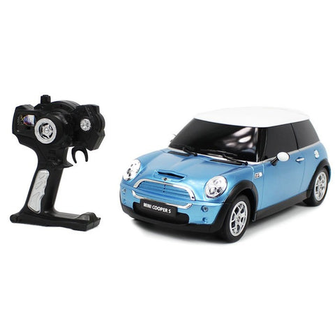 Rastar 1/14 Scale Blue Mini Cooper S Licensed RC Model Car RTR