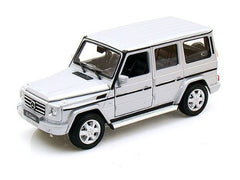 1:24 Scale Silver Mercedes G Class Diecast Model Car by Welly