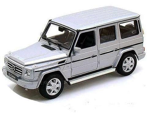 Welly 1:24 Silver Mercedes G Class Diecast Model Car