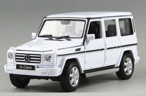 1:24 Scale White Mercedes G Class Diecast Model Car by Welly