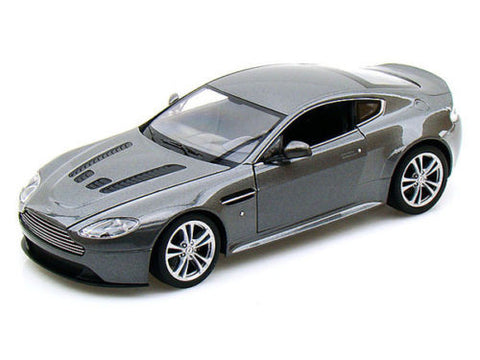 Welly 1:24 Scale 2010 Grey Aston Martin V12 Vantage Diecast Model Car