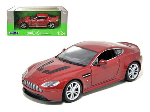 Welly 1:24 Scale 2010 Red Aston Martin V12 Vantage Diecast Model Car