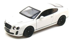 1:24 Scale White Bentley Continental Supersports Diecast Car Model by Welly