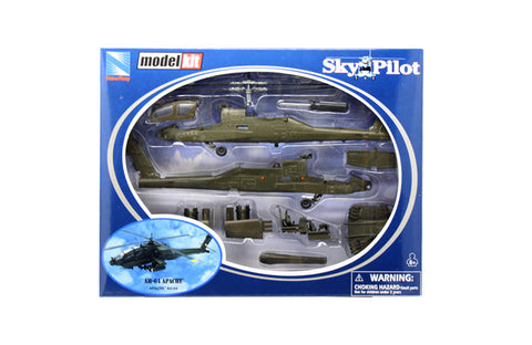 NEW RAY 1:55 APACHE AH-64W/WHEEL LOADER HELICOPTER KIT