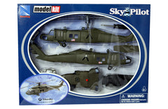 NEW RAY 1:55 SIKORSKY BLACK W/WHEEL LOADER HELICOPTER KIT