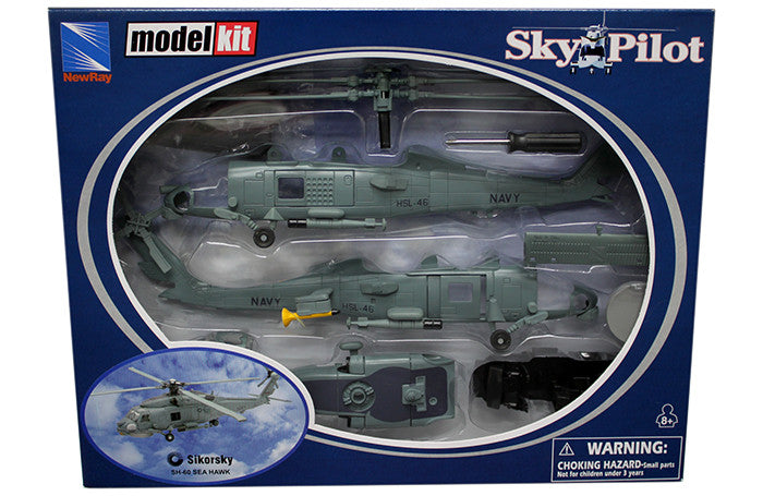 NEW RAY 1:55 SIKORSKY SH-60 SEA HAWK HELICOPTER MODEL KIT