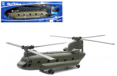 NEW RAY 1:60 GREY BOEING CH-47 CHINOOK HELICOPTER