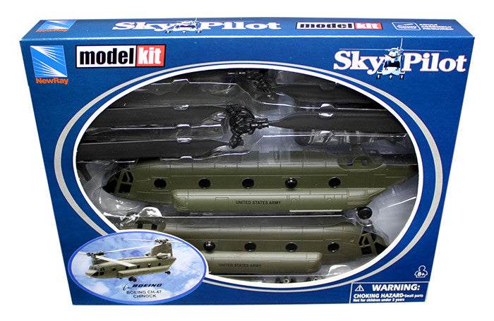 NEW RAY1:55 CH-47 CHINOOK MODEL KIT HELICOPTER
