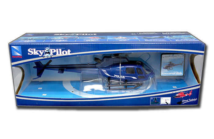 NEW RAY1:43 BLUE EUROCOPTER AS350 POLICE HELICOPTER