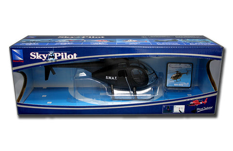 NEW RAY 1:32 BLACK NH-500 S.W.A.T.HELICOPTER