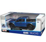 Maisto SE TRUCK 1:24 Scale 2017 Blue Ford Raptor Diecast Model Car