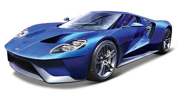 Maisto 1:18 Sclae 2017 Blue Ford GT Diecast Model Car