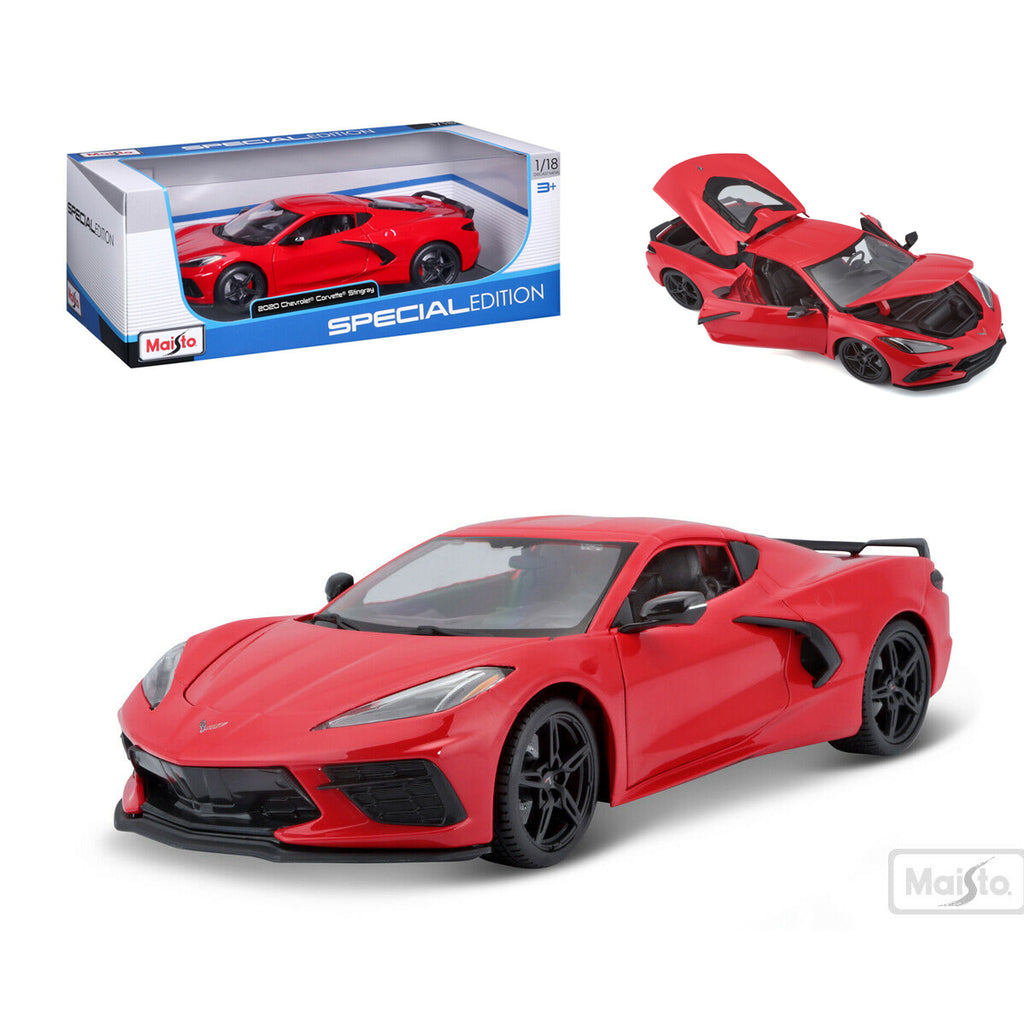 Maisto 1:18 2020 Red Chevrolet Corvette Stingray Coupe C8 Diecast Model Car 31447RD