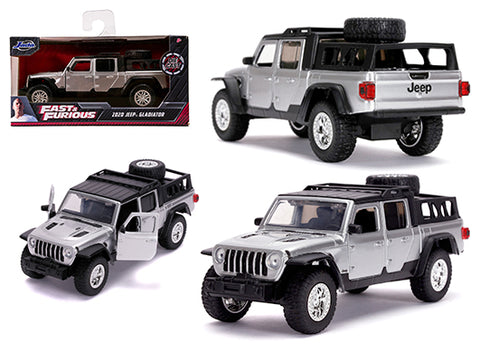 Jada 1:32 Scale Fast & Furious 9 Movie- 2020 Jeep Gladiator (Silver) Model