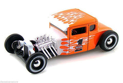 Maisto 1:24 Scale 1929 Ford Model A Harley Davidson Orange With Flames #1 Diecast Model Car