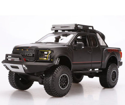 MAISTO OFF ROAD KINGS 1:24 SCALE 2017 MATTE BLACK F-150 RAPTOR DIECAST MODEL CAR