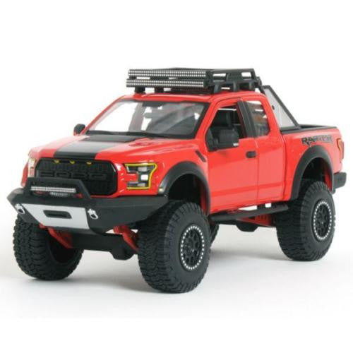 2017 Red Ford F-150 Raptor Pickup Truck Off Road Kings 1:24 Diecast Car By Maisto
