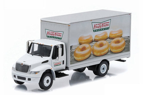 GREENLIGHT 1:64 H-D TRUCKS SERIES 4 - 2013 INTERNATIONAL DURASTAR BOX VAN - KRISPY KREME DELIVERY