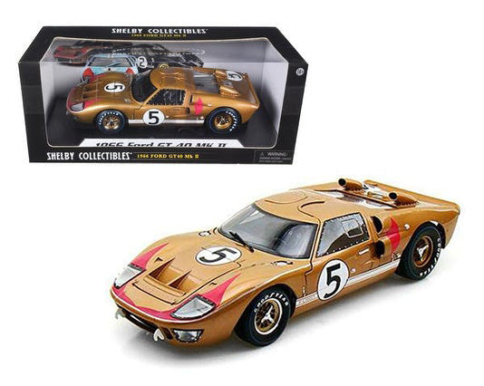 1966 Ford GT40 Mark II #5 Le Mans Miles/Hulme 1/18 (Gold) by Shelby 403GLD