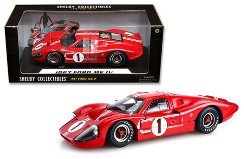 1967 FORD GT MK IV #1 RED LE MANS WINNER 1/18 DIECAST SHELBY COLLECTIBLES 423RD