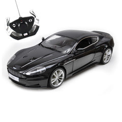 Rastar 1/14 Black Aston Martin DBS Coupe Licensed RC Model Car with Light
