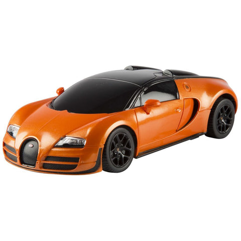 Rastar 1/24 Scale Orange Bugatti Veyron 16.4 Grand Sport Vitesse Licensed RC Model Car RTR