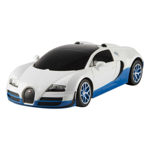 Rastar 1/24 Scale White Bugatti Veyron 16.4 Grand Sport Vitesse Licensed RC Model Car RTR