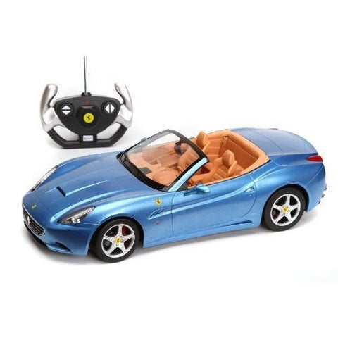 Rastar 1/12 Scale Blue Ferrari California Convertible Licensed RC Model Car RTR