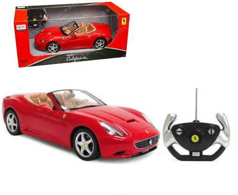 Rastar 1/12 Scale Red Ferrari California Convertible Licensed RC Model Car RTR