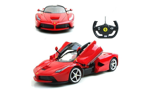 Rastar 1/14 Scale Red Ferrari LaFerrari Licensed RC Model Car R/C RTR Open Doors