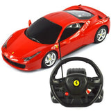 Rastar 1/18 Scale Red Ferrari 458 Italia RC Model Car With Steering Controller