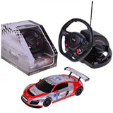 Rastar 1/18 Scale White/Red Audi R8 LMS Performance Model RC Car With Steering Controller