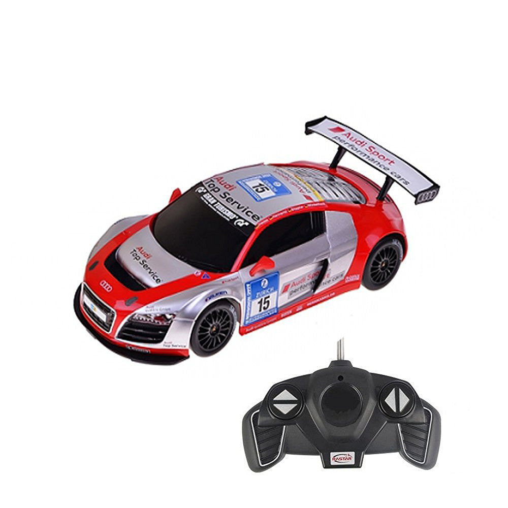 Rastar 1/18 Scale Silver/Red Audi R8 LMS Performance RC Model Car