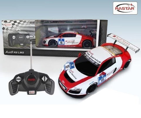 Rastar 1/18 Scale White/Red Audi R8 LMS Performance RC Model Car