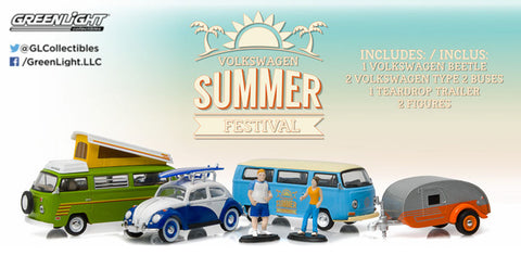 GREENLIGHT 1:64 MOTOR WORLD DIORAMA - VOLKSWAGEN SUMMER FESTIVAL