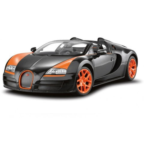 Rastar 1/14 Scale Black Bugatti Veyron 16.4 Grand Sport Vitesse Licensed RC Model Car
